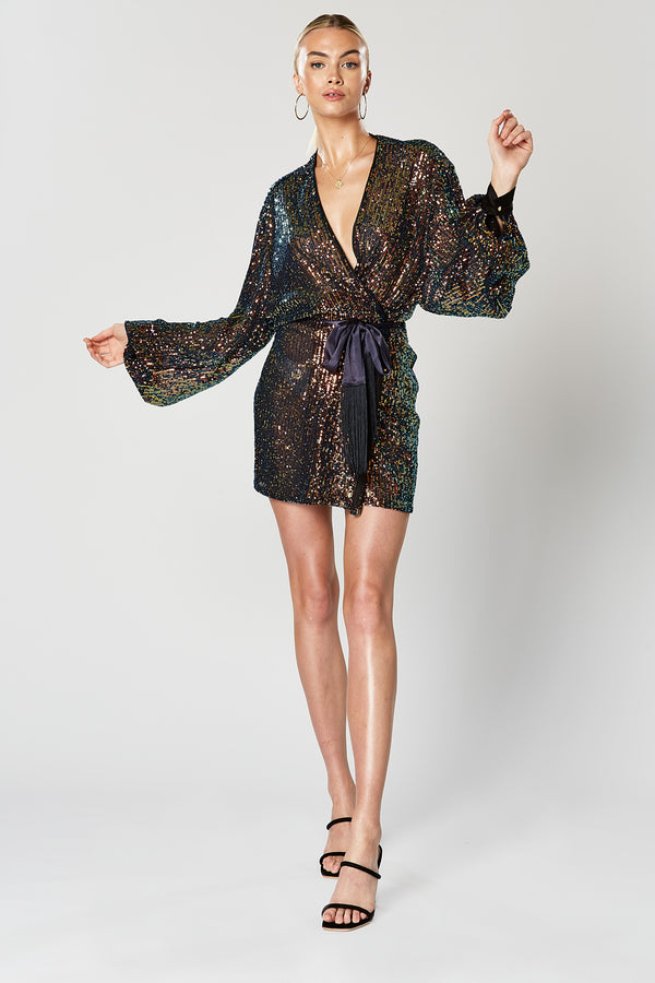 Commix Wrap Dress-DRESS-Catia Couture