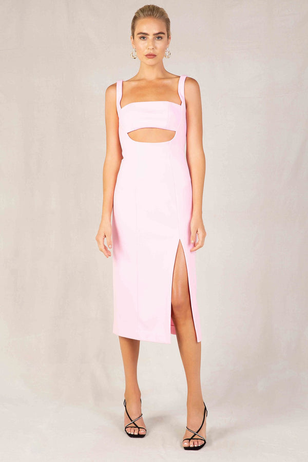 Simonetta Midi Dress - Sugar Pink-DRESS-Catia Couture