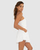 Amoureaux Playsuit - White-JUMPSUIT-Catia Couture