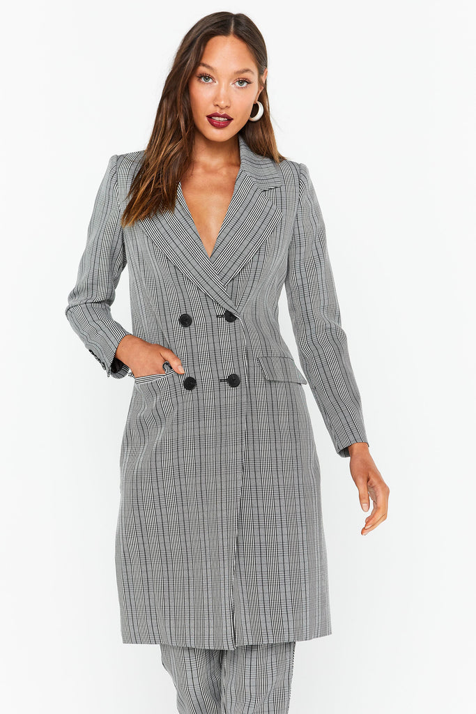 The Duchess Coat - Check-Coat-Catia Couture