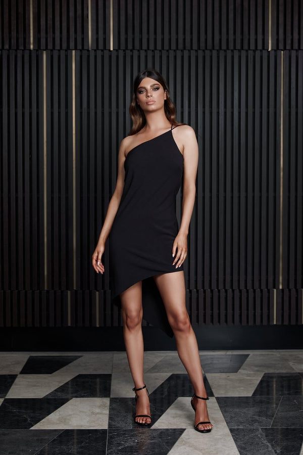 Anya Dress - Black-Dress-Catia Couture