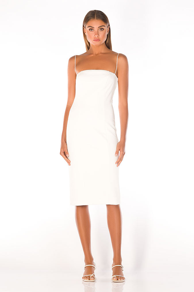 Sophie Midi Dress - Ivory-DRESS-Catia Couture