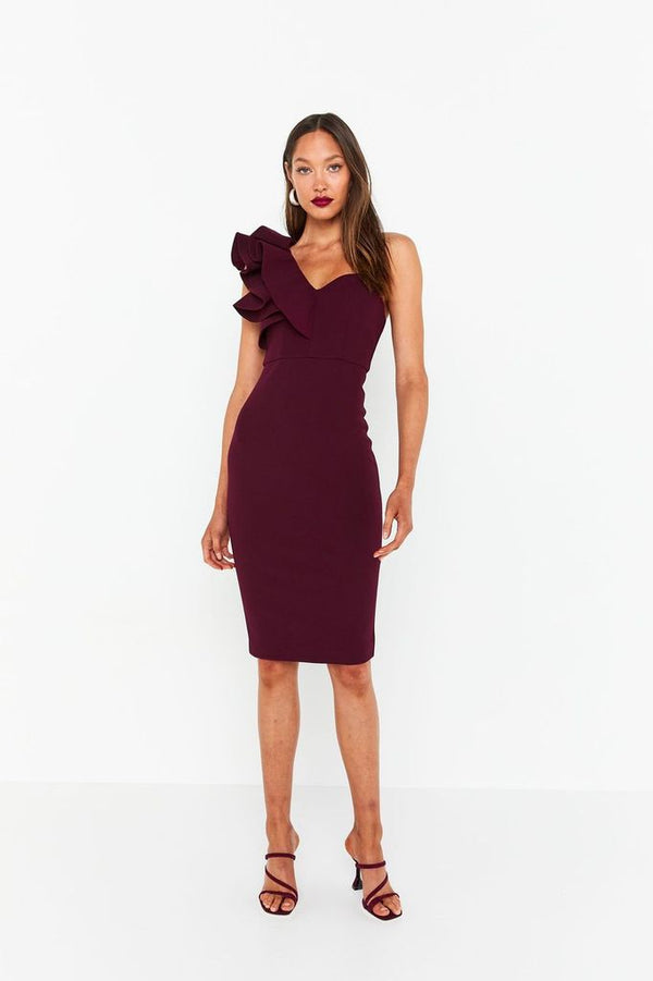 Forever Mine Dress - Wine-DRESS-Catia Couture