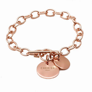 Circle Chain Rose Gold