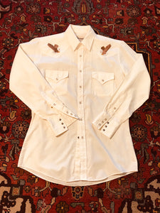 Authentic Ely Cattleman Pearl Snap Yolk Shirt.