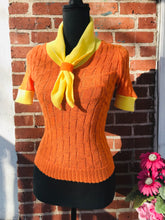 Load image into Gallery viewer, 1960s Retro Short Sleeve Scooby Sweater