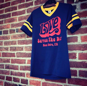 Our Custom Retro Love Saves the Day T-shirt.