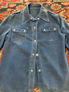 Soft Denim 1960s Snap Jacket