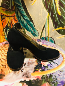 1950s Black DelMan Deluxe High Pumps