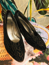 Load image into Gallery viewer, Vintage Christian Dior Black Textured Pumps