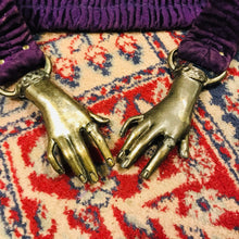 Load image into Gallery viewer, Antique Brass Hands Clasp Belt - Rare Find