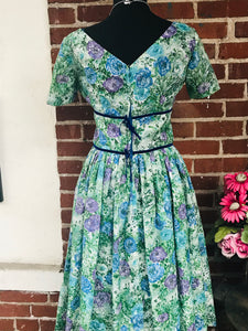 Beautiful 1950s Floral Party Dress