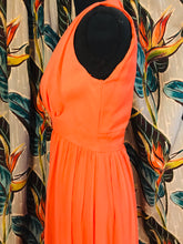 Load image into Gallery viewer, Bright Salmon 2pc 1960s Poly-Chiffon Gown