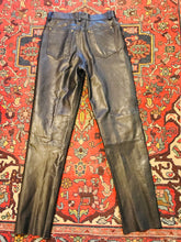 "Load image into Gallery viewer, Real ""Kookie"" 1990s Leather Jeans"