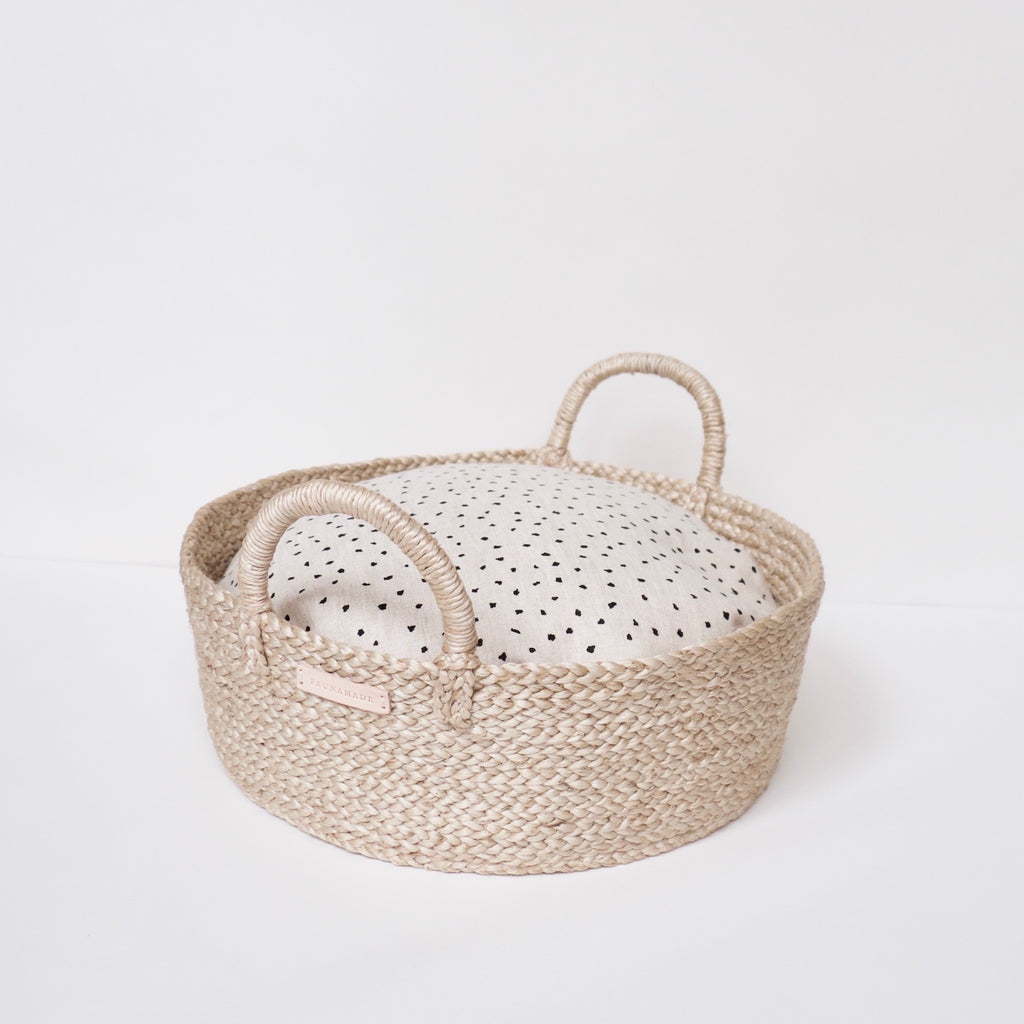 Basket Bed in Organic Dots