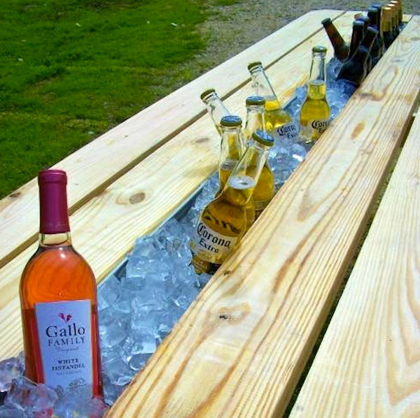 Picnic Table Plans With Cooler One Woodworking
