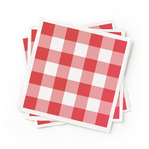 Cocktail Napkins - Red