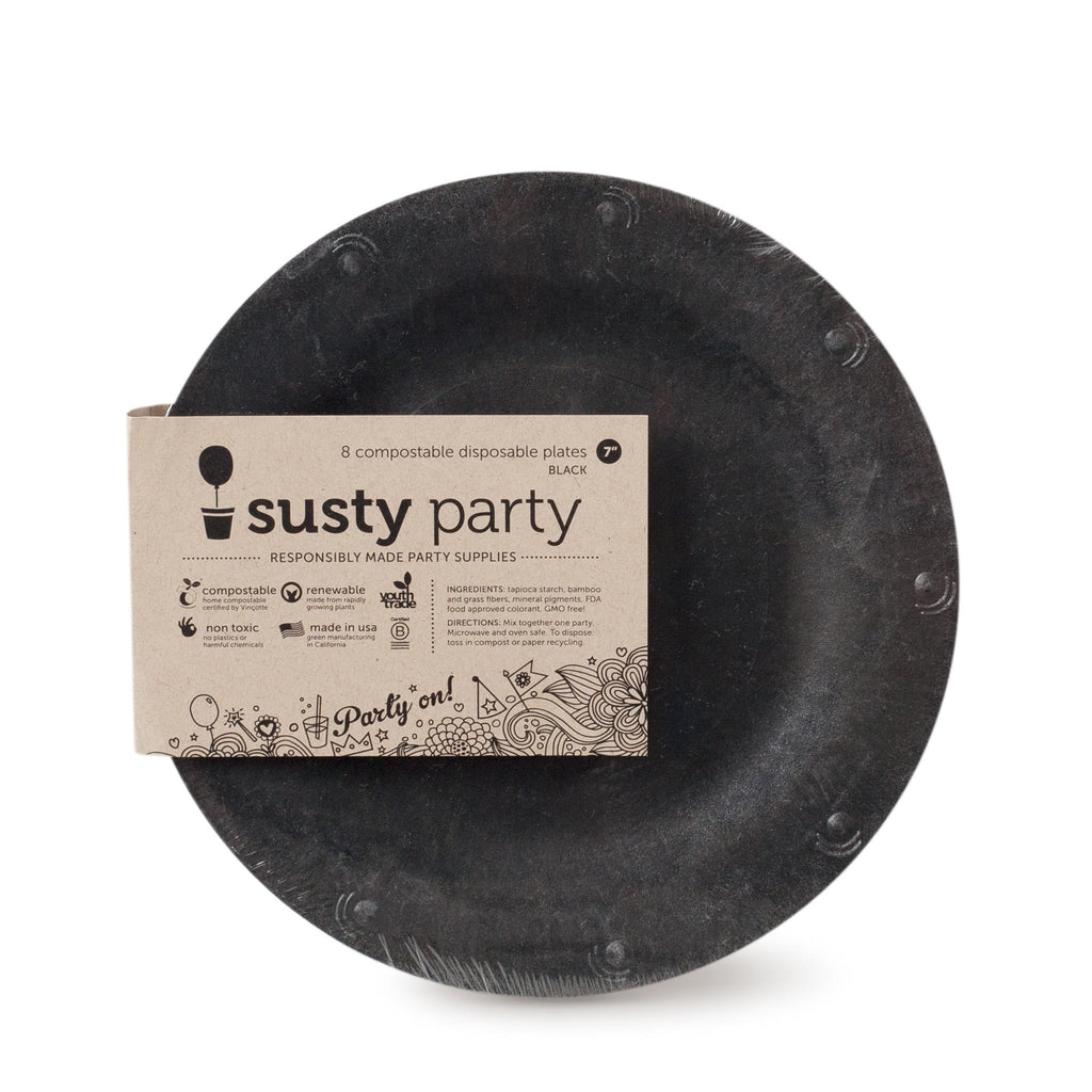 Dessert Plates - Black; 7\  Dessert Plates - Black - 8 plates ...  sc 1 st  Susty Party & 7\