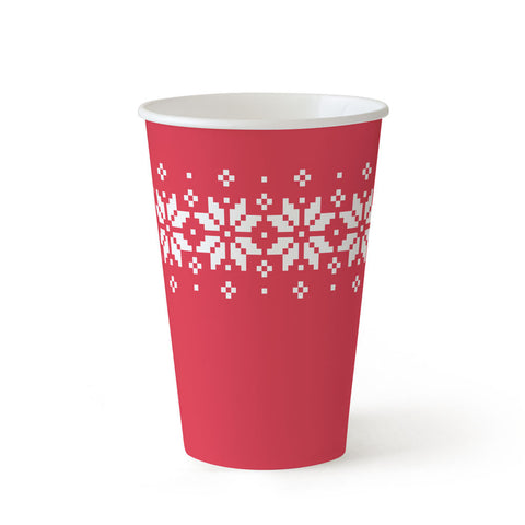 10 oz Paper Cups - Ugly Sweater - 24 cups