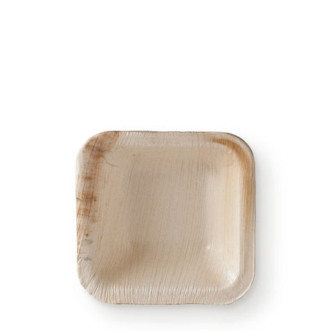"3"" Square Palm Leaf Mini Bowl - 25 bowls"