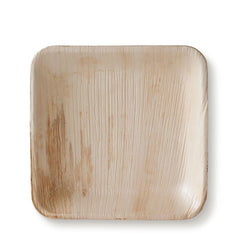 "6"" Square Palm Leaf Dessert Plate"