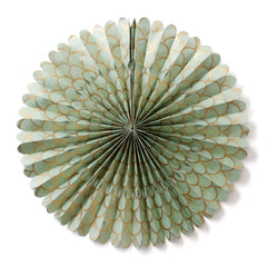 Large Lokta Paper Rosette - Gold Scallop on Mint