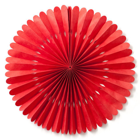 Large Lokta Paper Rosette - Red