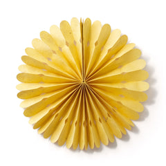 Small Lokta Paper Rosette - Yellow