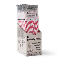 Paper Straws - Red - 10ct