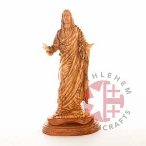 The Blessings of Jesus Christ's Hand Carved Olive Wood Statue