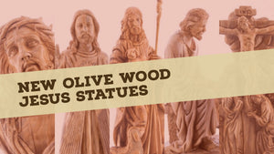 New Olive Wood Jesus Statues
