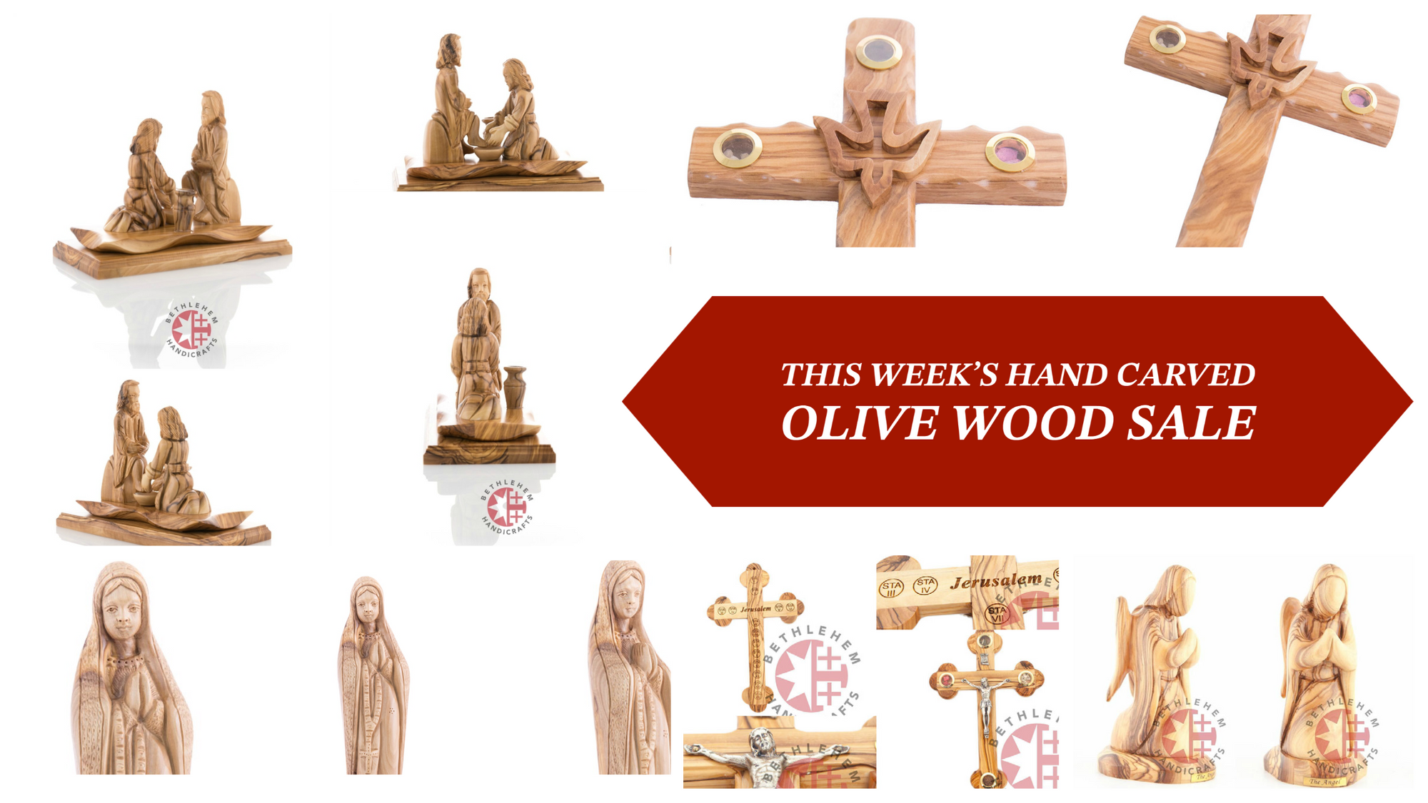 This Week's Hand Carved Olive Wood SALE | Bethlehem Handicrafts
