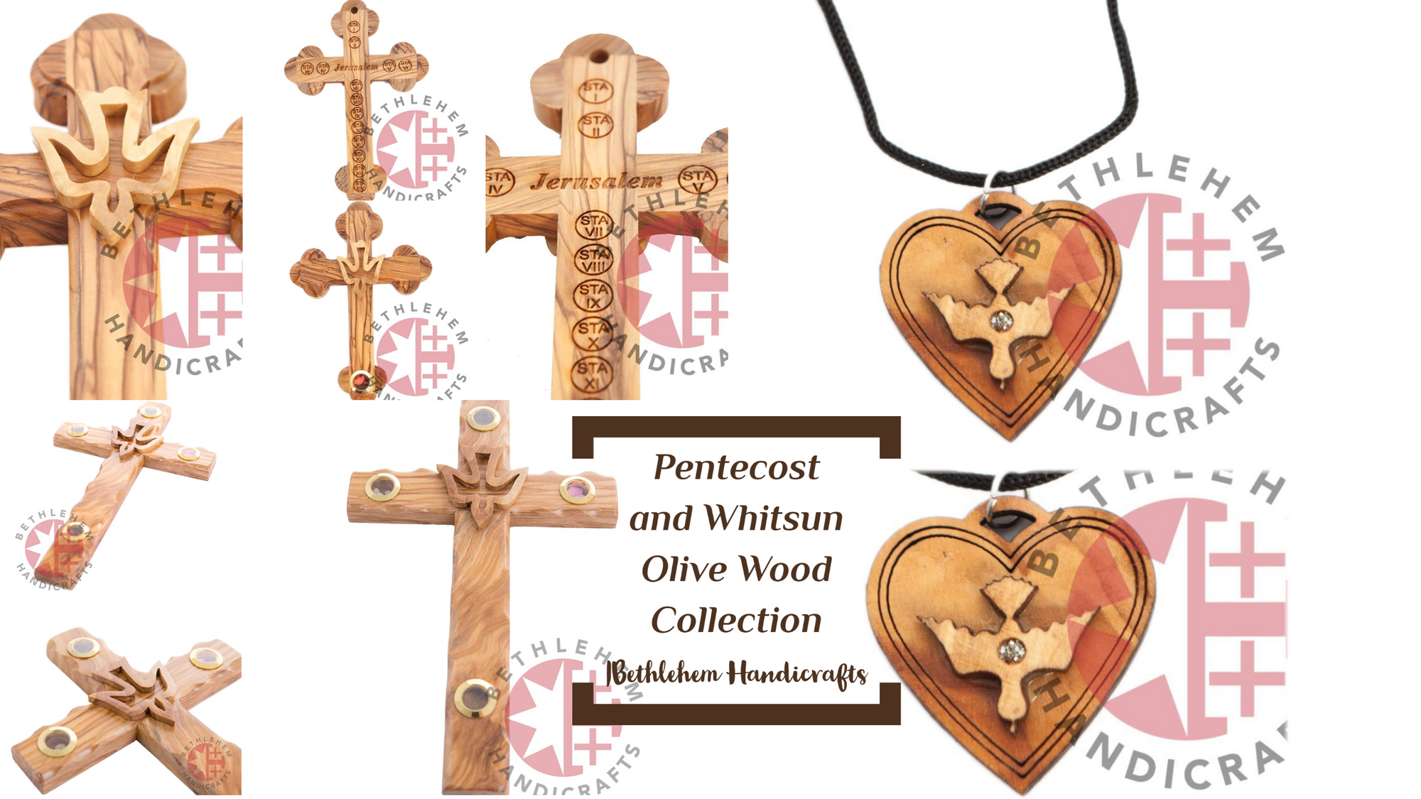 Pentecost and Whitsun Olive Wood Collection | Bethlehem Handicrafts