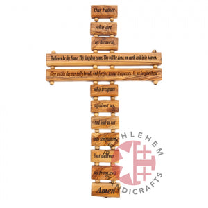 Our hand-carved olive wood Cross with prayer