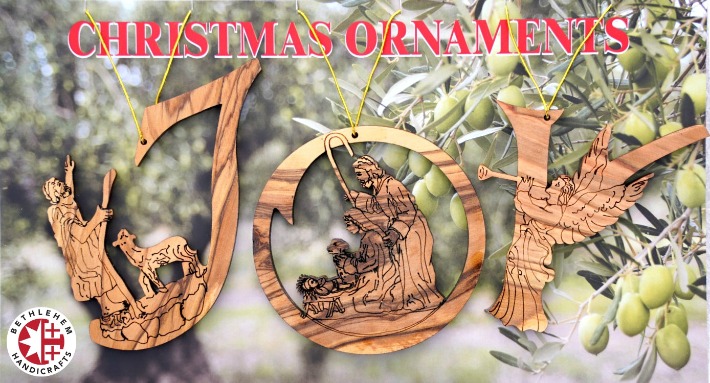 Olive Wood Christmas Ornaments