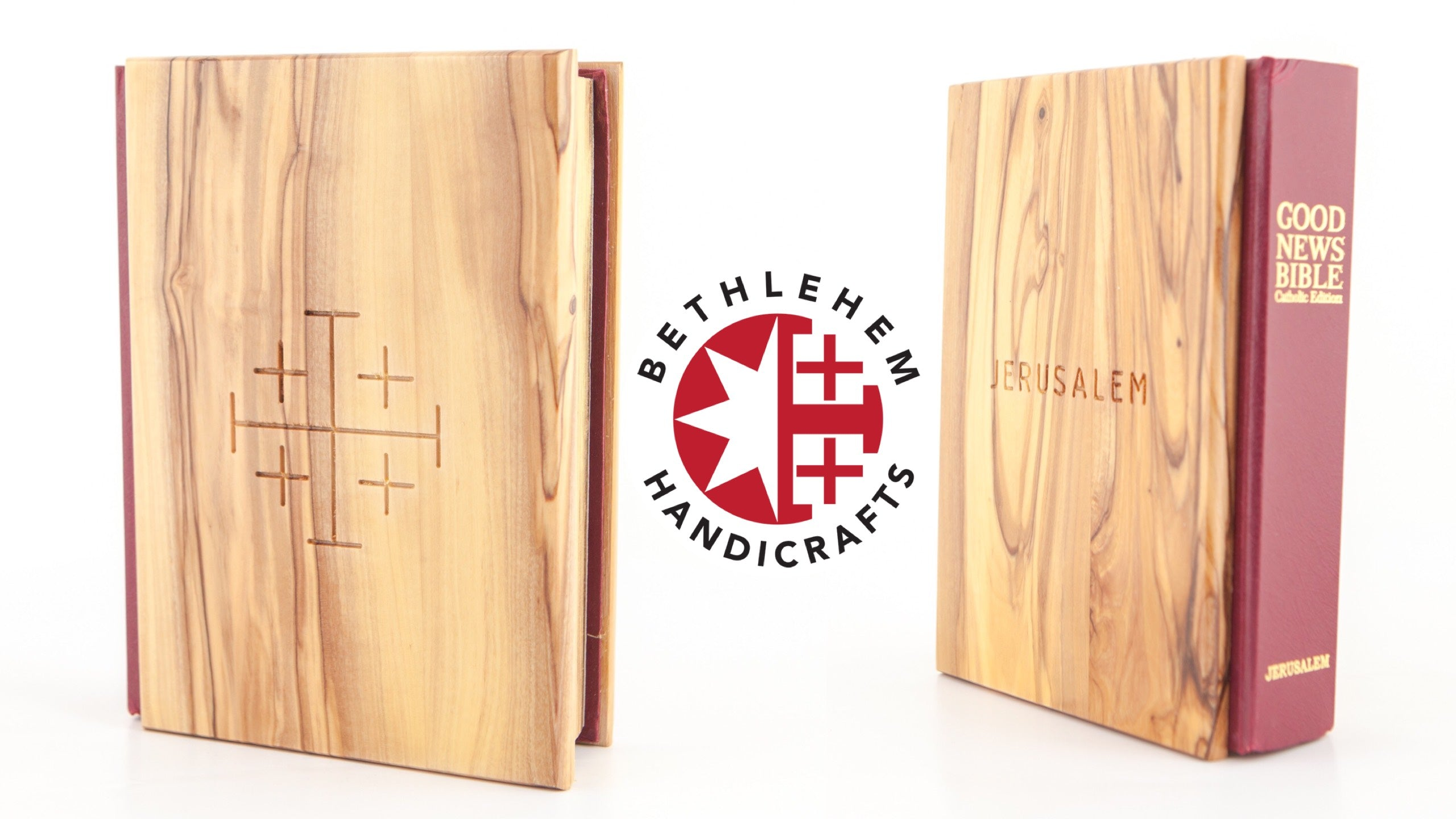 The English Bible With A Wooden Cover