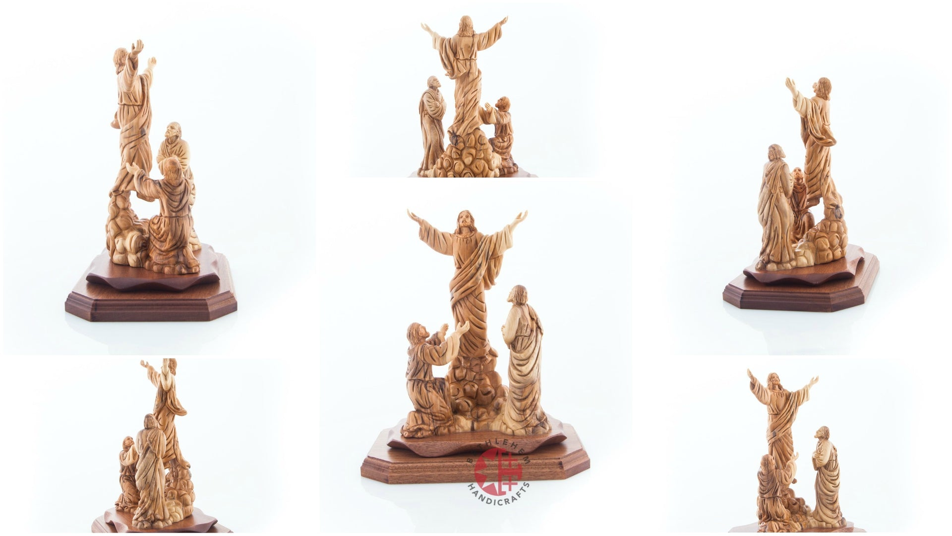 Ascension of Jesus Christ into Heaven Olive Wood Statue