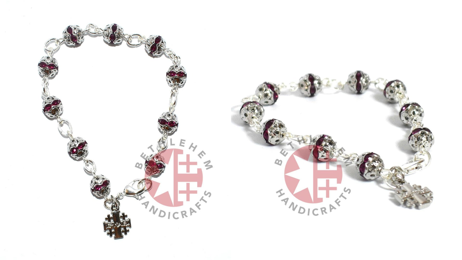 6mm Purple Crystal Prayer Rosary