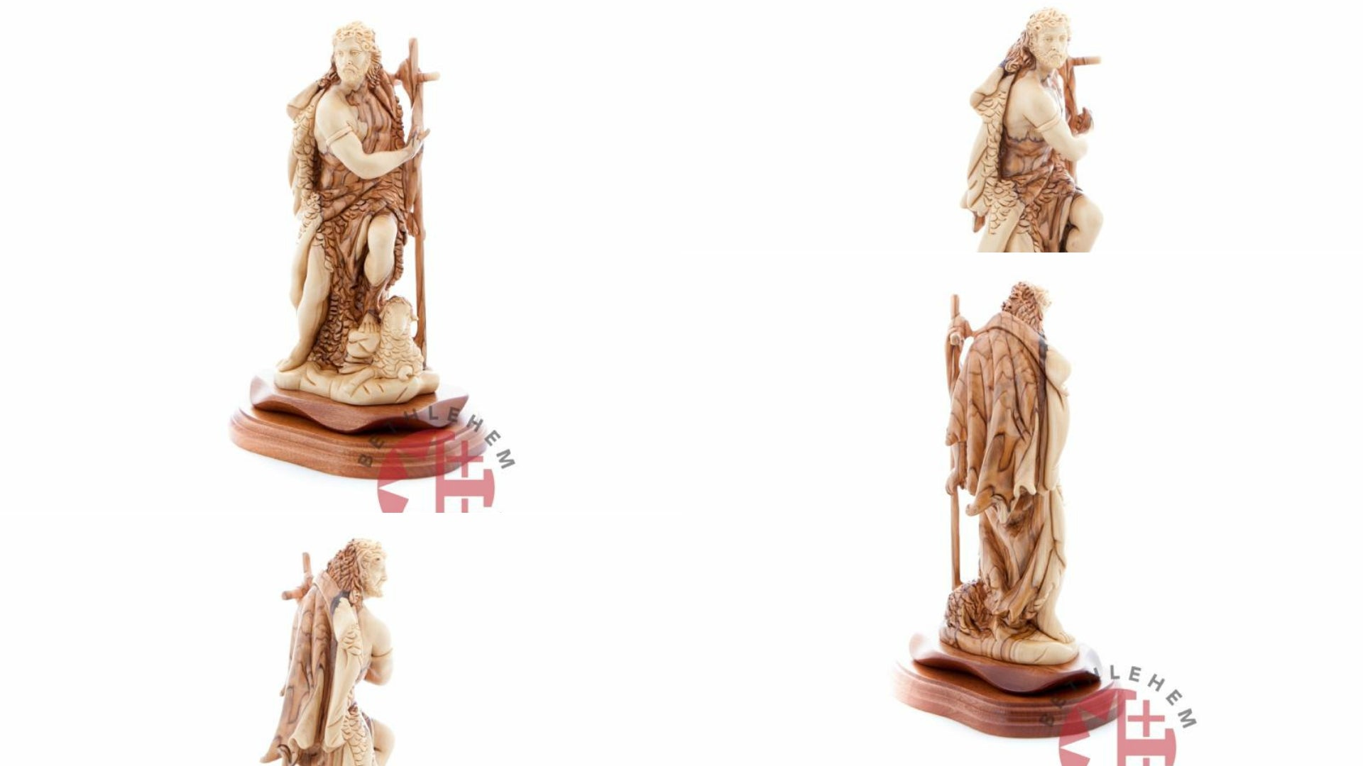 Saint John Olive Wood Hand Carved Statue