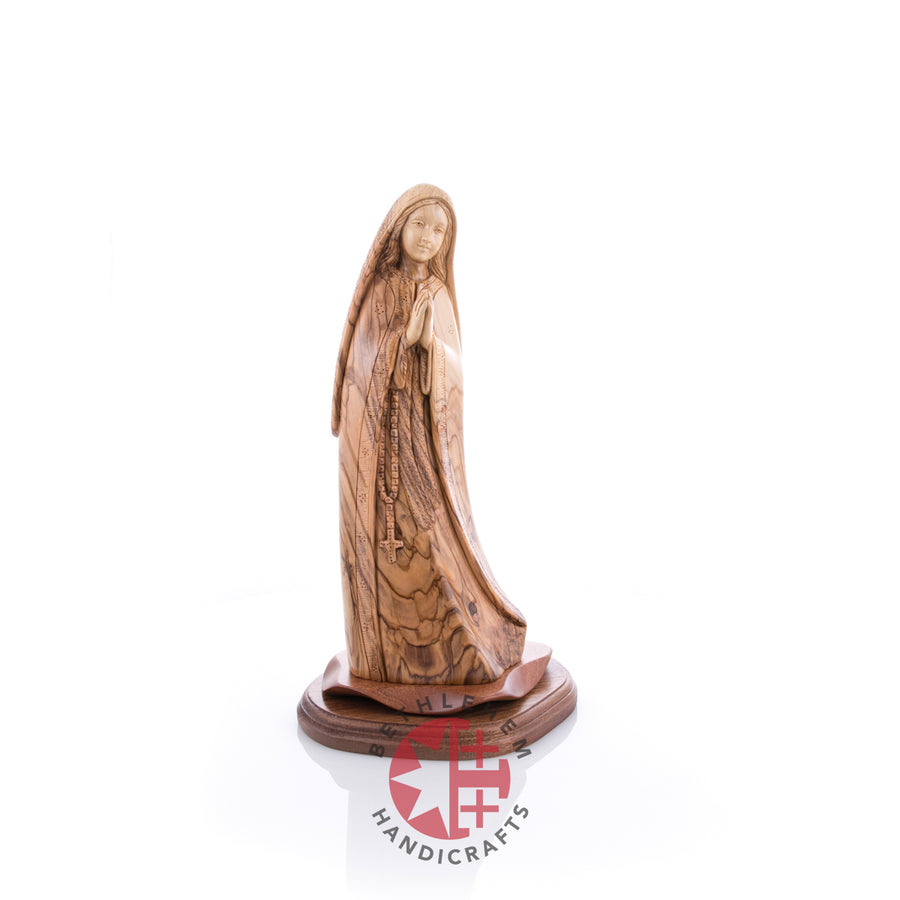 Olive Wood Carved Our Lady of Fatima (Large)