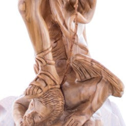 Hand Carved Wooden Statue of Saint Michael - Statuettes - Bethlehem Handicrafts