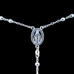 Sterling Silver Rosary Necklace (L) - Jewelry - Bethlehem Handicrafts