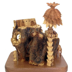 Hand Carved Unique Olive Wood Nativity Set - Statuettes - Bethlehem Handicrafts