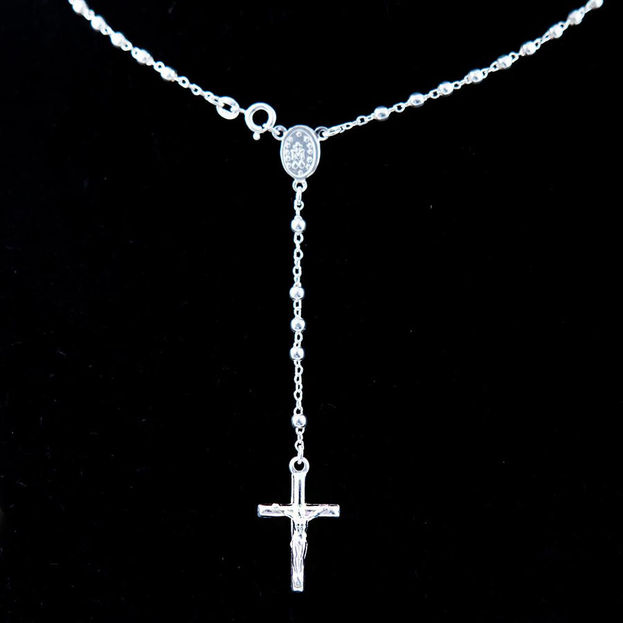 Sterling Silver Rosary Necklace (S) - Jewelry - Bethlehem Handicrafts
