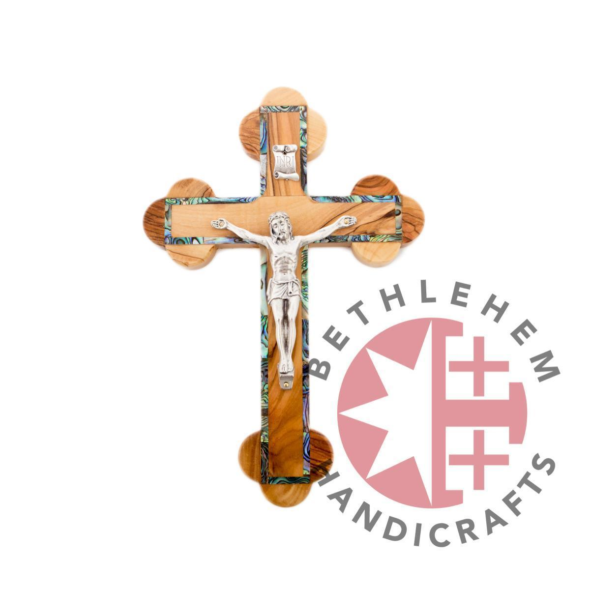 Wooden and Mother of Pearl Crucifixes - Wall Hangings - Bethlehem Handicrafts