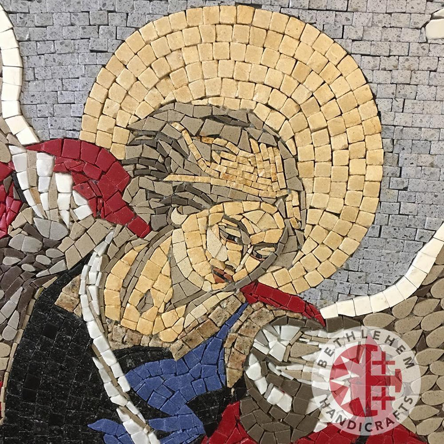 St. Michael's Mosaic Wall Hanging - Specialty - Bethlehem Handicrafts