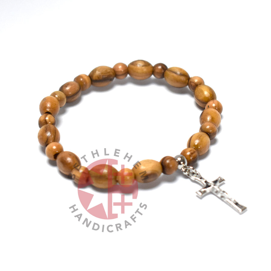 Bethlehem Olive Wood 9*6 mm Bracelet