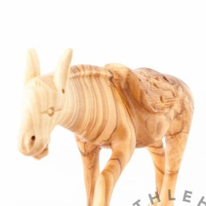 Hand Carved Wooden Donkey - Statuettes - Bethlehem Handicrafts