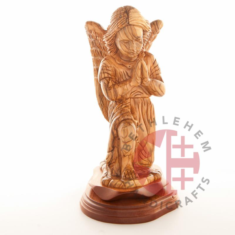 Wooden Guardian Angel - Statuettes - Bethlehem Handicrafts