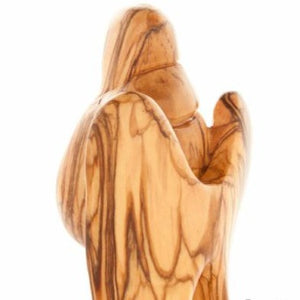 Wooden Angel with the Baby - Statuettes - Bethlehem Handicrafts